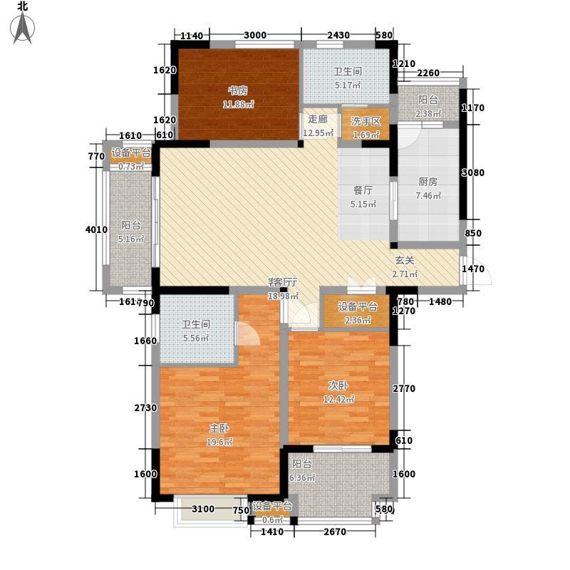 美满锦园139.00㎡美满锦园户型图A3户型3室2厅2卫1厨户型3室2厅2卫1厨
