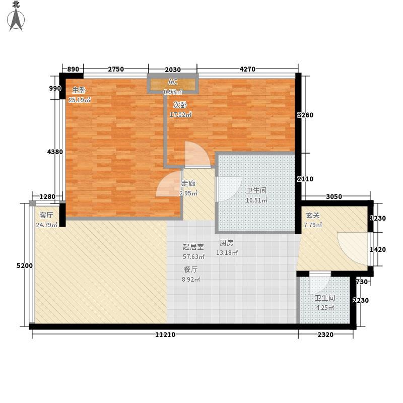 新世界名泷125.78㎡新世界名泷户型图东塔A1户型2室2厅2卫户型2室2厅2卫
