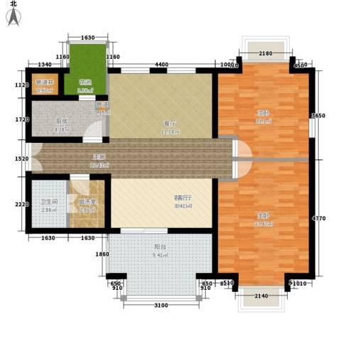 学风19112室1厅1卫1厨86.48㎡户型图
