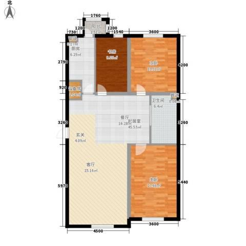 金嘉水岸3室0厅1卫1厨112.52㎡户型图