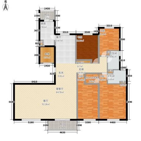 铂金时代4室1厅2卫1厨212.59㎡户型图