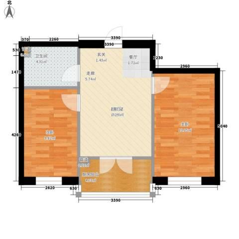 铂宇剑桥郡2室0厅1卫0厨54.00㎡户型图