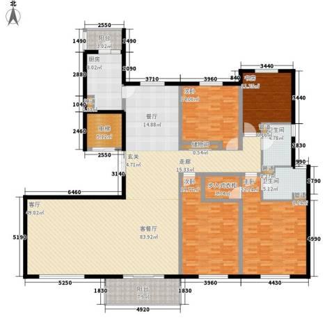 铂金时代4室1厅2卫1厨212.78㎡户型图
