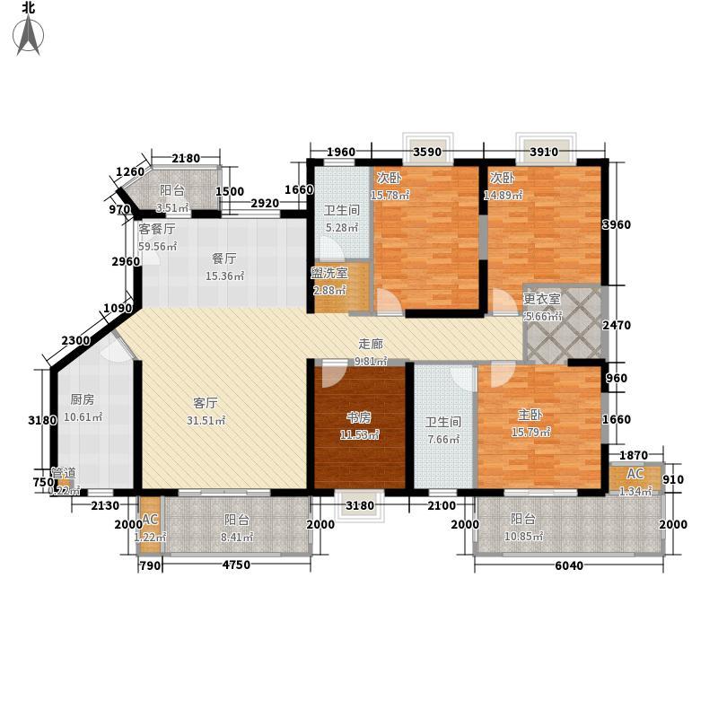 世茂湖滨首府192.00㎡D1-1号楼02户型4室2厅