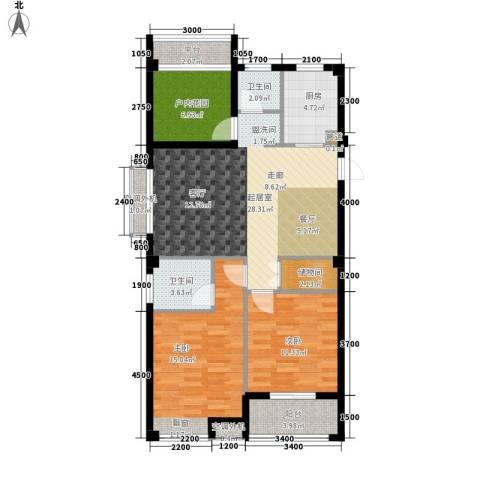天瑞公馆2室0厅2卫1厨102.00㎡户型图