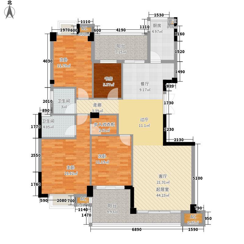 江南水都丽岛141.00㎡江南水都丽岛户型图4室2厅2卫1厨户型10室