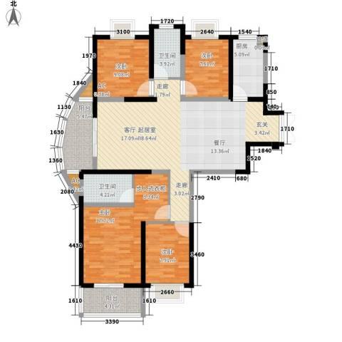 蔚蓝风景4室0厅2卫1厨162.00㎡户型图