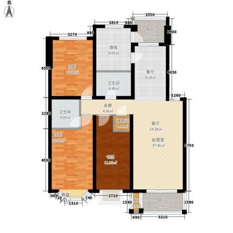 你好荷兰城3室0厅2卫1厨118.74㎡户型图