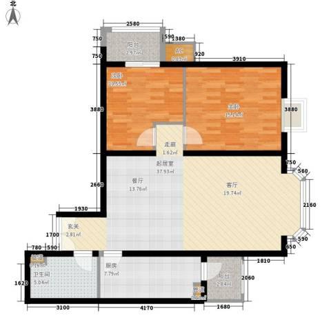 国展新座2室0厅1卫1厨95.00㎡户型图