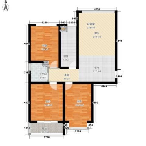 柠檬小镇3室0厅1卫1厨102.64㎡户型图