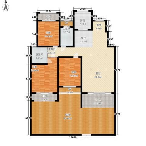 建业桂园3室0厅2卫1厨318.00㎡户型图