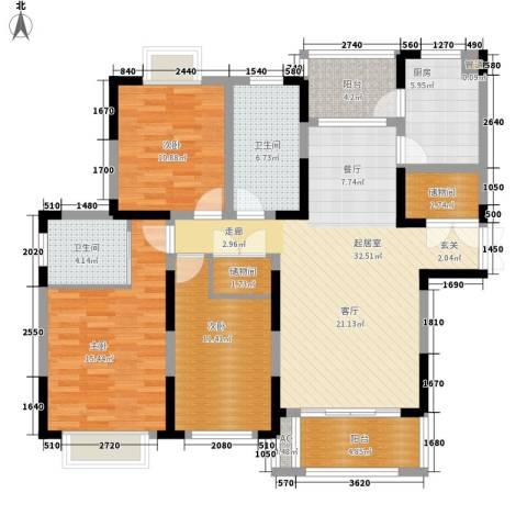 上铁银欣花园3室0厅2卫1厨147.00㎡户型图