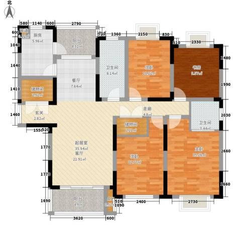 上铁银欣花园4室0厅2卫1厨144.00㎡户型图