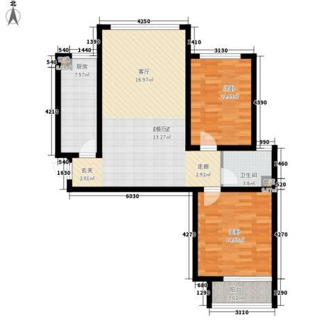 柠檬小镇2室0厅1卫1厨87.00㎡户型图