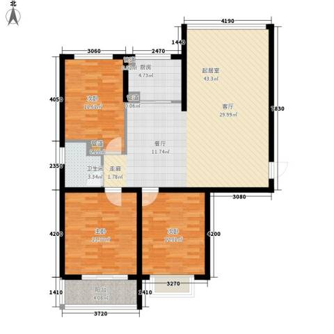 柠檬小镇3室0厅1卫1厨105.00㎡户型图