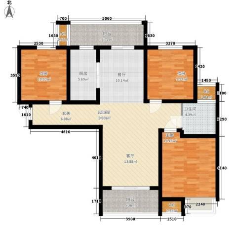 建业桂园3室0厅1卫1厨115.00㎡户型图
