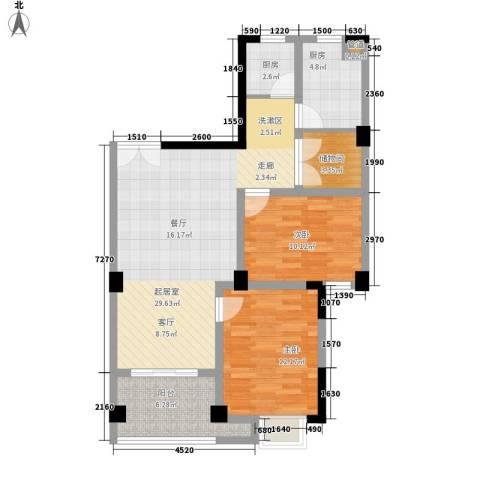 紫金山庄2室0厅0卫2厨88.00㎡户型图
