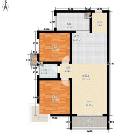 嘉冠尚城3室0厅1卫1厨89.00㎡户型图