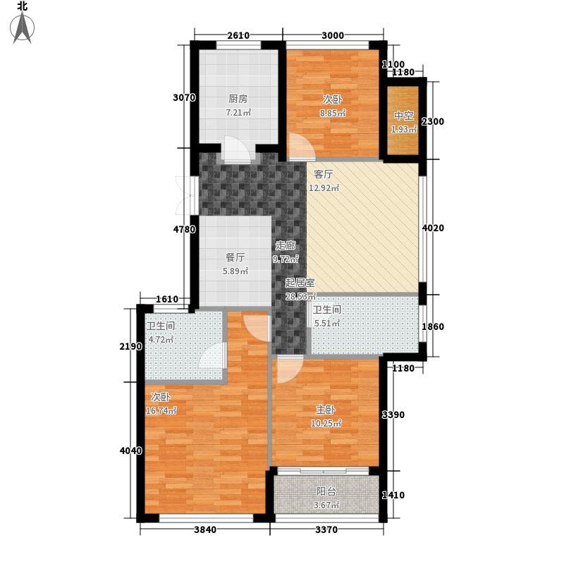 118.00㎡D2奇数层户型3室2厅2卫