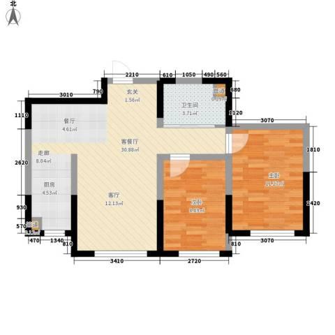 中顺福苑2室1厅1卫0厨87.00㎡户型图