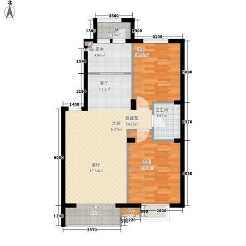 保利花园第五季2室0厅1卫1厨90.00㎡户型图