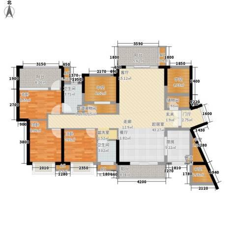 星河盛世3室0厅2卫1厨121.00㎡户型图