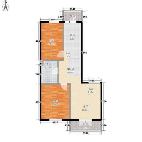 铂宇剑桥郡2室0厅1卫0厨86.00㎡户型图