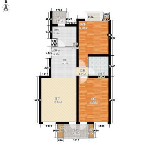 富都丽景二期2室0厅1卫1厨97.00㎡户型图