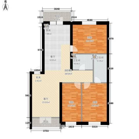 铂宇剑桥郡3室0厅2卫0厨119.00㎡户型图