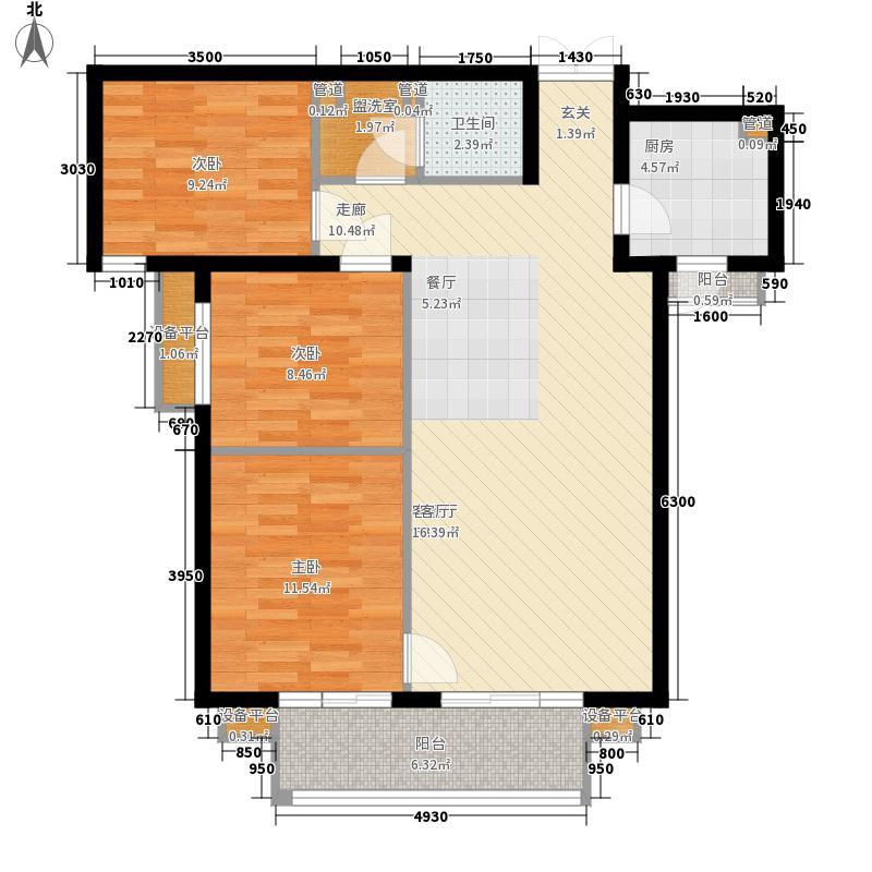 滨河小区户型3室2厅1卫1厨