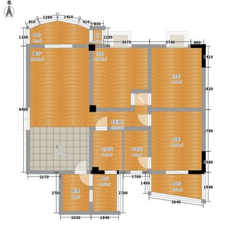 东鹰花园3室0厅2卫1厨153.00㎡户型图