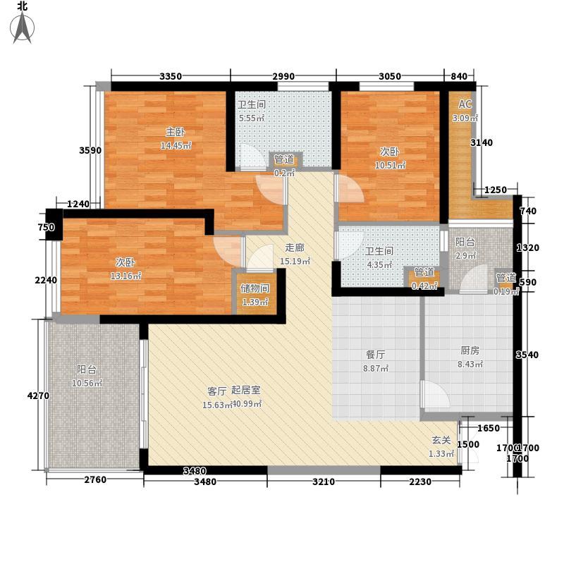 粼江峰阁144.91㎡粼江峰阁户型图C1型3室2厅2卫1厨户型3室2厅2卫1厨
