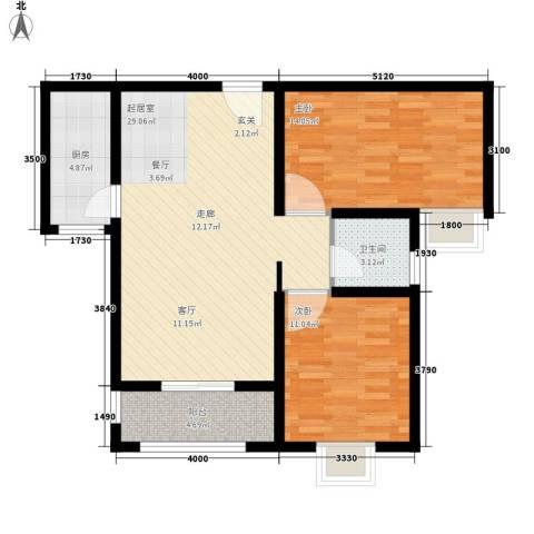 易合坊2室0厅1卫1厨103.00㎡户型图
