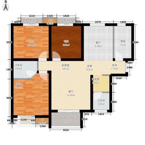 易合坊3室0厅2卫1厨114.00㎡户型图