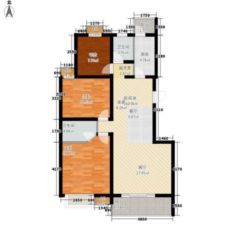 易合坊3室0厅2卫1厨117.00㎡户型图