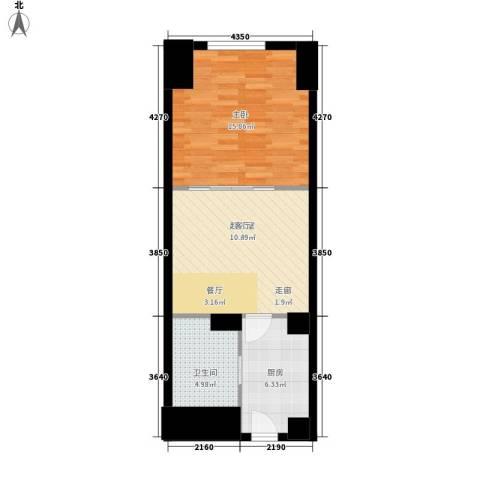MINI印象1室0厅1卫1厨50.00㎡户型图