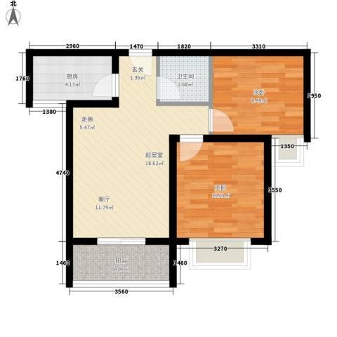 易合坊2室0厅1卫1厨70.00㎡户型图