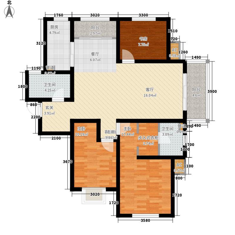 银丰唐郡139.00㎡10#楼C1户型3室2厅