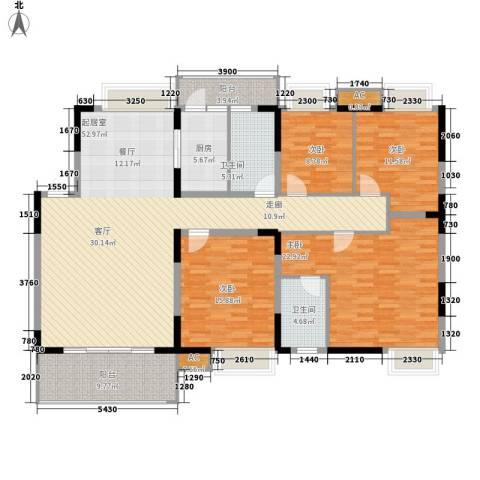 揽海听涛4室0厅2卫1厨143.06㎡户型图