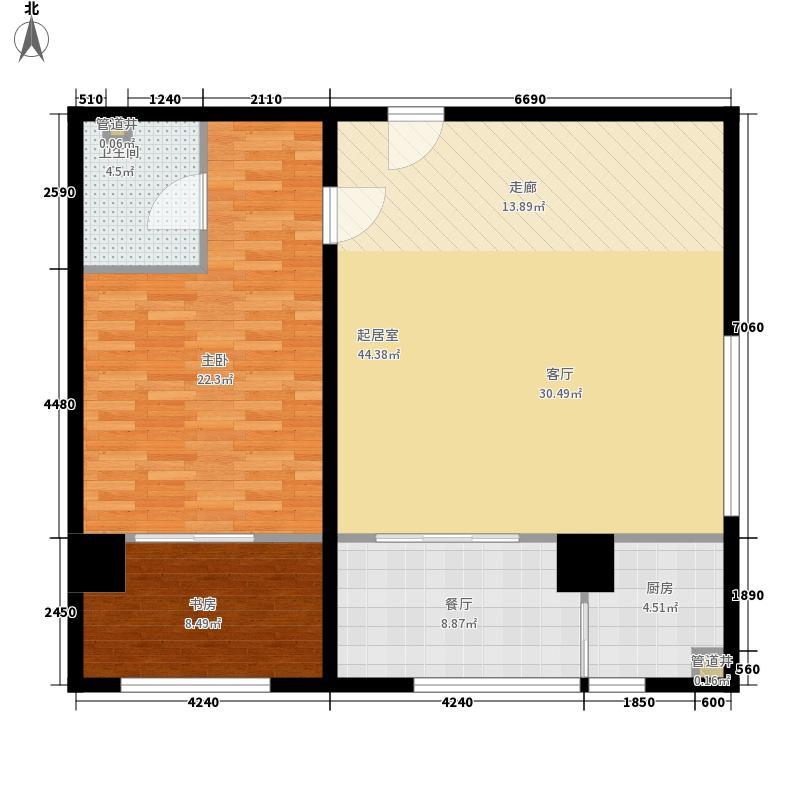 上新阶103.92㎡上新阶户型图B户型图2室1厅1卫户型2室1厅1卫