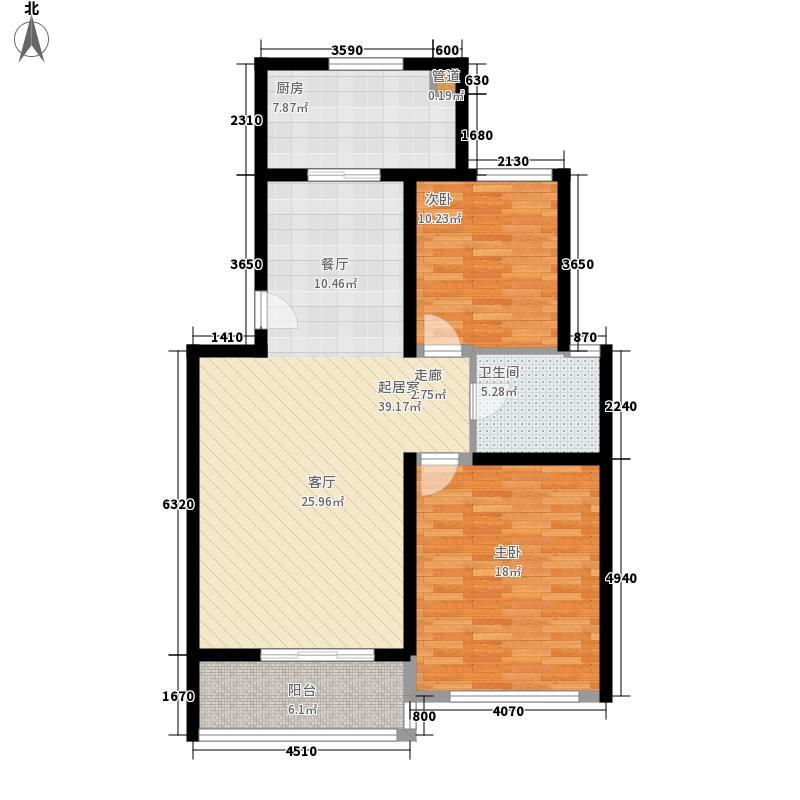鸿山锦苑98.16㎡鸿山锦苑户型图D2室2厅1卫1厨户型2室2厅1卫1厨