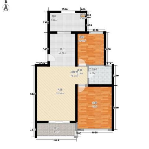 鸿山锦苑2室0厅1卫1厨98.00㎡户型图