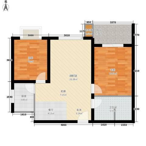 皇族名居2期2室0厅1卫1厨83.00㎡户型图