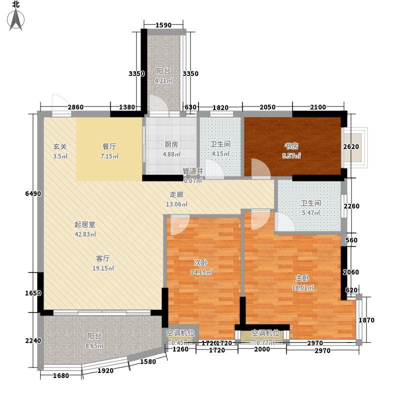 世博嘉园户型图3房2厅2卫 3室2厅2卫1厨