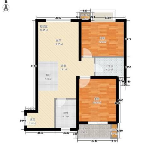 皇族名居2期2室0厅1卫1厨91.00㎡户型图