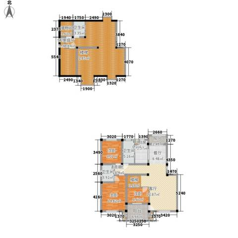 顺城名湾3室0厅3卫1厨165.00㎡户型图