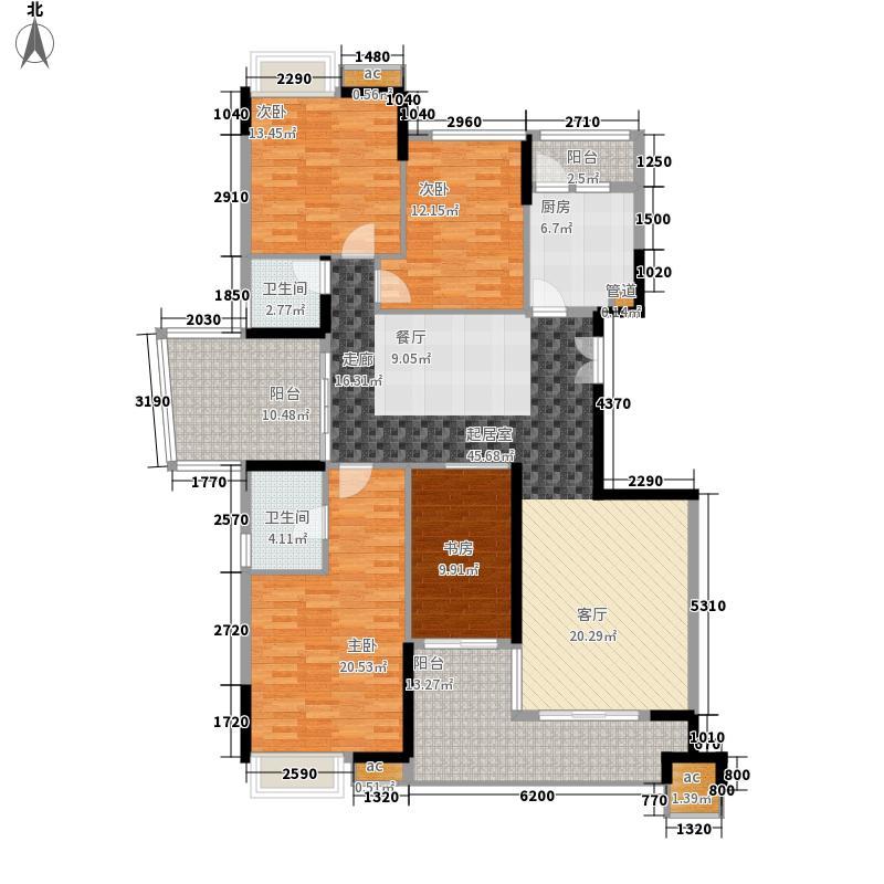 一品湖山162.00㎡一品湖山户型图162平方米户型平面图4室2厅户型4室2厅