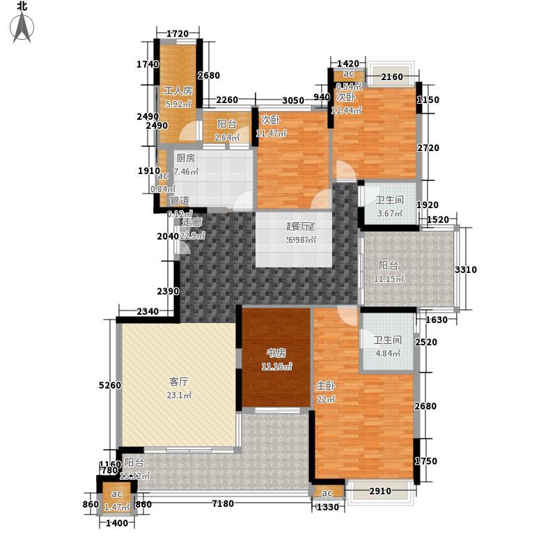 一品湖山186.00㎡一品湖山户型图186平方米户型平面图5室2厅户型5室2厅