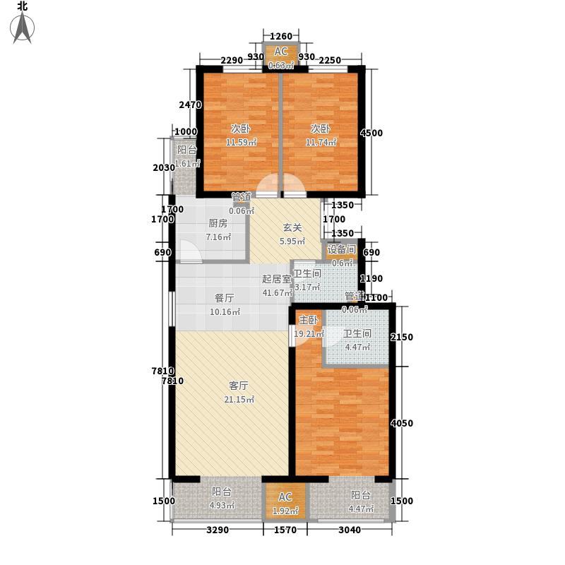 润枫锦尚12.00㎡-A1-2户型3室2厅2卫1厨