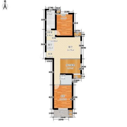 天地荣域2室0厅1卫1厨106.00㎡户型图